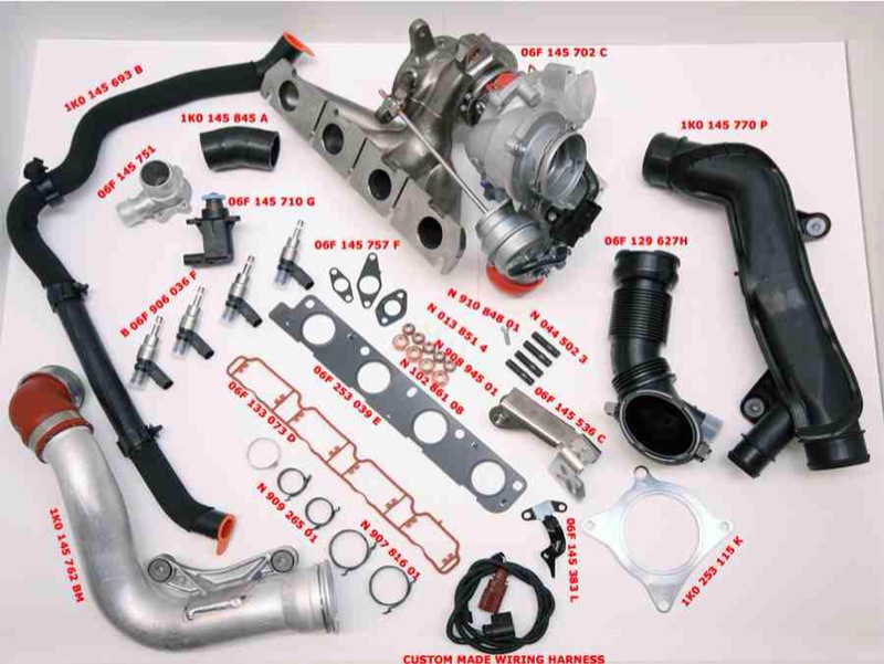 Parts required for Golf GTI TFSI Edition 30 conversion - including part numbers