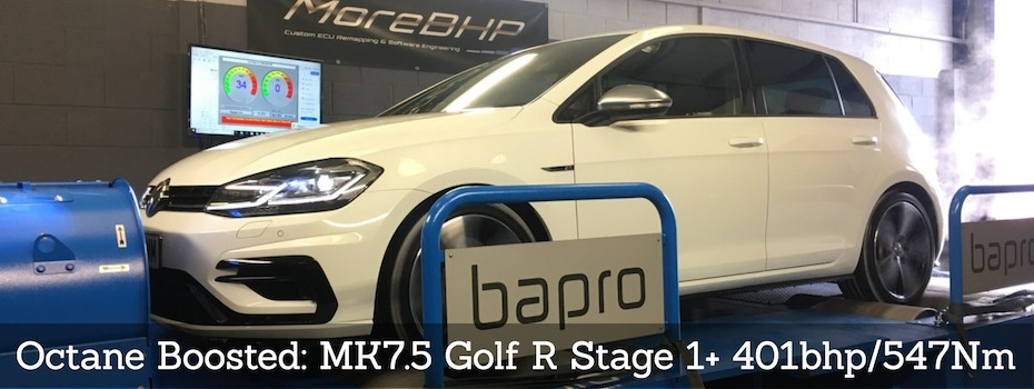 VW Golf MK7 R EA888 MQB 2.0TSI MoreBHP Custom Stage 1 Remap for Octane Booster