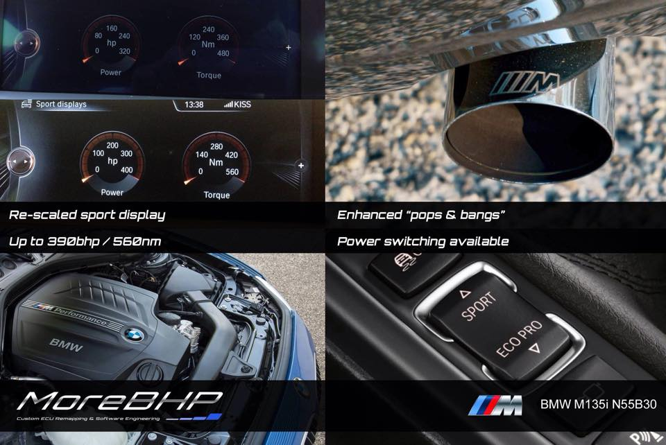 M135i M235i Custom Remap Enhanced Sports Dials