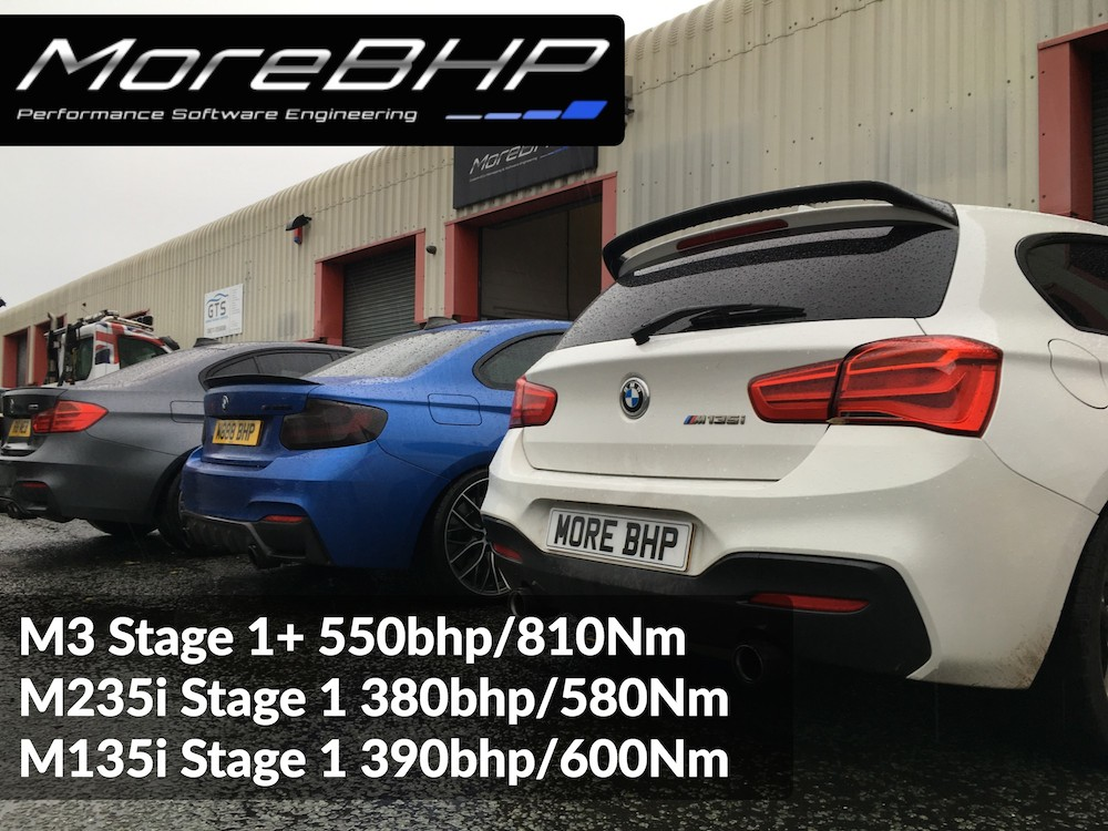 M3, M235i and M135i with Remaps oustide MoreBHP